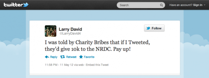 Larry David Tweet